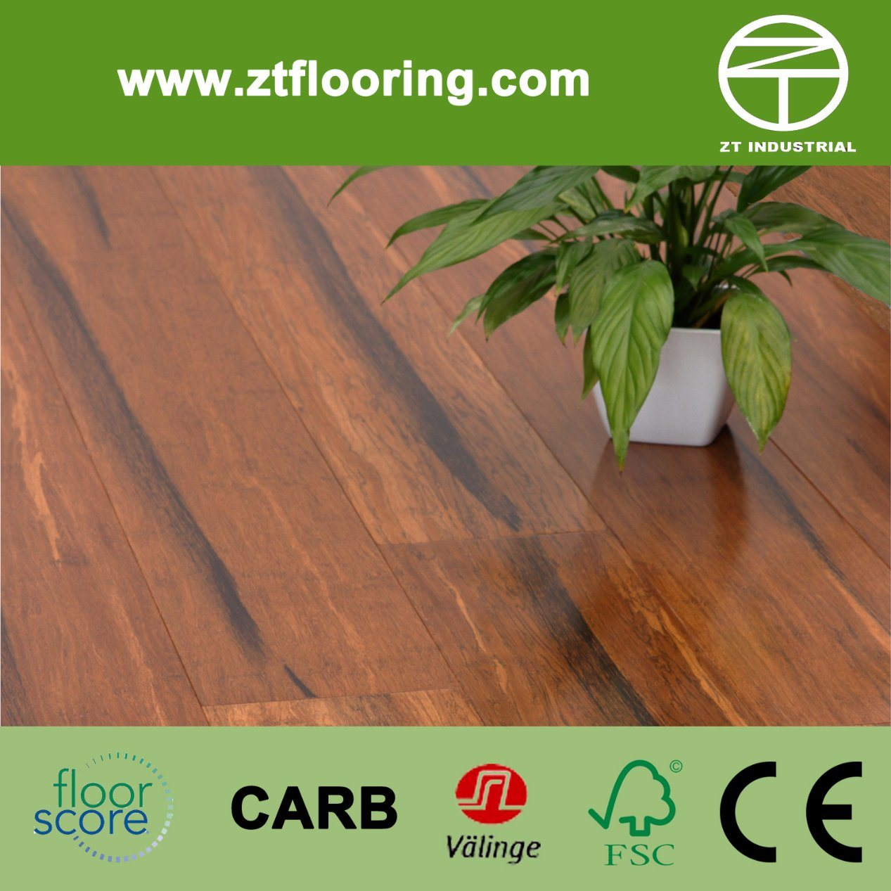 Plywood Engineered Strand Woven Bamboo Flooring Click P-Ecsw03