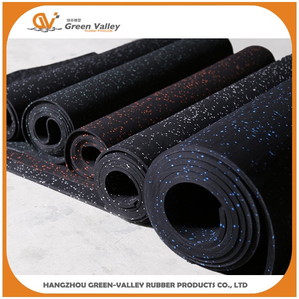 EPDM Speckles Gym Fitness Rubber Flooring Rolls Rubber Mats