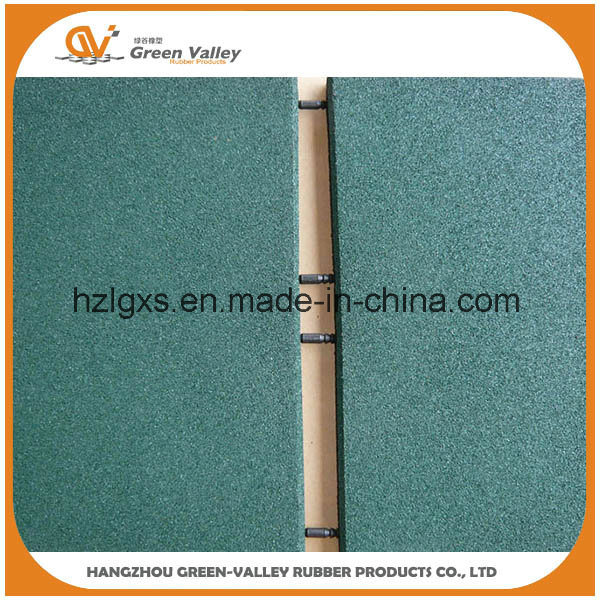 En71 Approved Safety Rubber Mat Flooring Rubber Tile with Plastic Pins