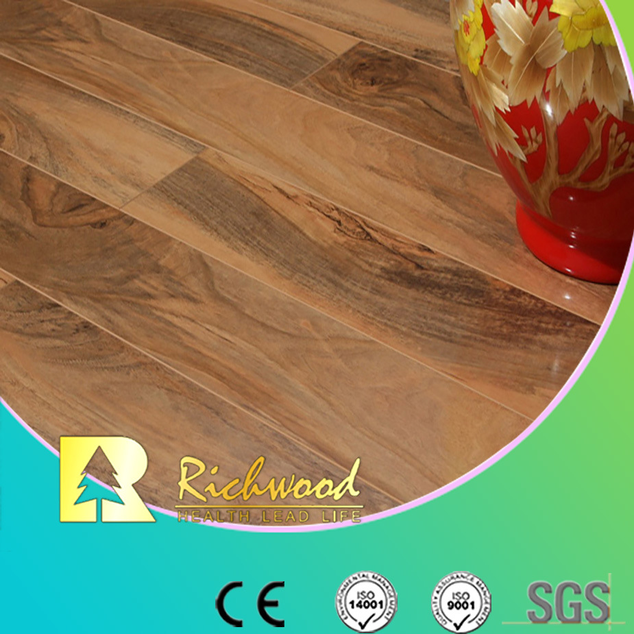 Household 12.3mm High Gloss Cherry Sound Absorbing Laminate Floor