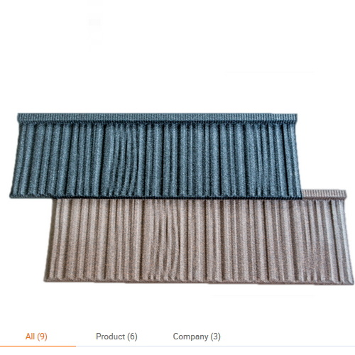 High Quality Stone Chip Roof Tile Makuti Grained Metal Tiles