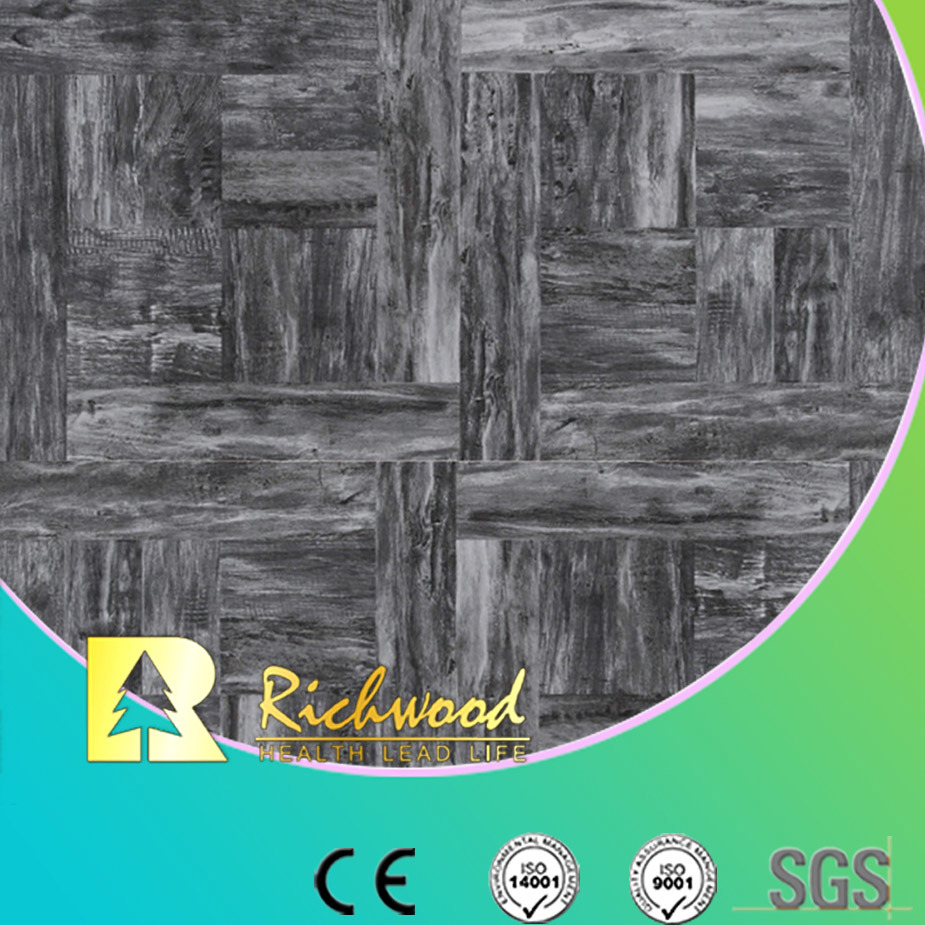 Commercial 12.3mm Woodgrain Texture Cherry Waxed Edged Laminate Flooring