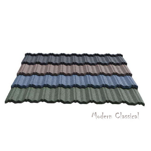 Modern Classical Tile Stone Coated Steel Roofing Tile for Building Material
