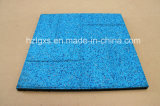 Brickface Blue Rubber Floor Tile for Sports Use