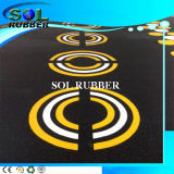 Bright Pattern High Quality Commercial Gym Rubber Flooring
