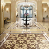 Butterfly Gold and Black Porcelain Polished Floor Tiles in Hotel