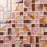 10*10mm Ceramic and Glass Mix Tile Mosaic From Foshan