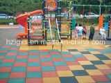 Stable Recyled Rubber Tiles for Children Playground Flooring