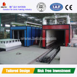 Clay Brick Tunnel Kiln with Natural Gas Firing System