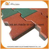 Anti-Slip Horse Stall Bone Shape Rubber Tiles for Wholesale