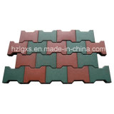 Dog-Bone Colorful EPDM Granules Rubber Flooring Tiles