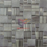 Grey Color Modern Style Glass and Aluminium Made Decoration Mosaic (CFC643)