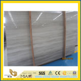 High Polishing White Wooden Vein Marble for Floor Tiles