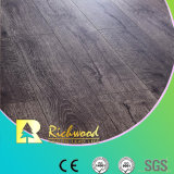 8.3mm E1 HDF Embossed Teak V-Grooved Waxed Edge Laminate Floor