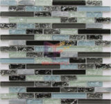 Ice-Cracked Glass Strip Shape Mix Marble Mosaic (CFS728)